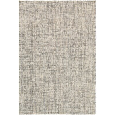 Danielle Hand-Woven Cream/Light Gray Area Rug Rug size: Runner 26 x 8