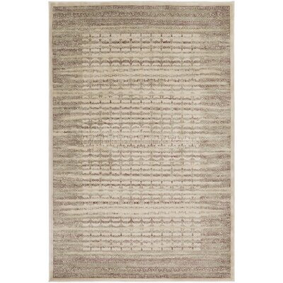 Heloise Brown Area Rug Rug Size: 53 x 76
