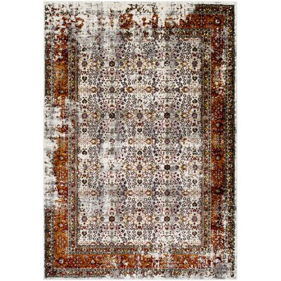 Archimbald Orange/Red Area Rug Rug Size: 53 x 76