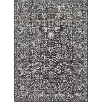 Hannah Charcoal Area Rug Rug Size: Rectangle 53 x 73