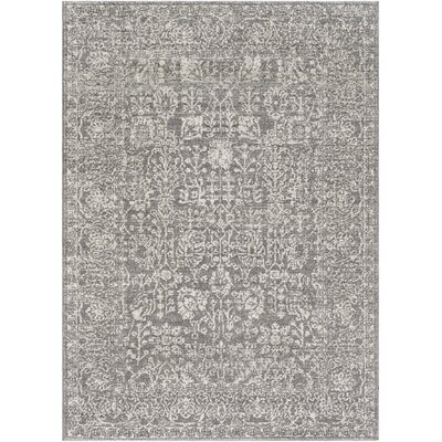 Hannah Gray Area Rug Rug Size: Rectangle 53 x 73