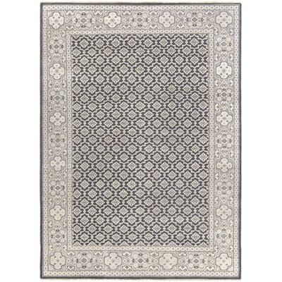 Karlee Charcoal/Tan Area Rug Rug Size: Rectangle 56 x 86