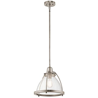 Bertram 1-Light Bowl Pendant Finish: Classic Pewter, Size: 13.25 H x 13 W x 13 D