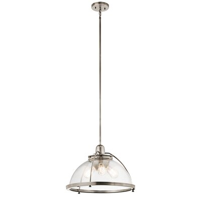 Brandice 3-Light Bowl Pendant Finish: Classic Pewter