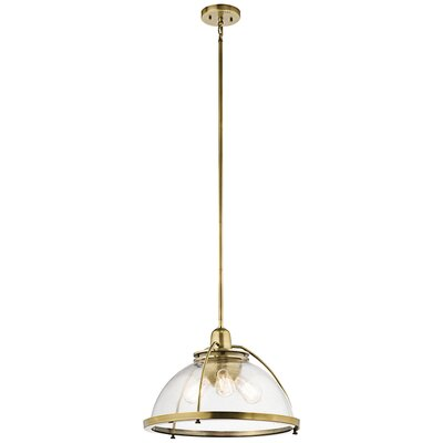 Brandice 3-Light Bowl Pendant Finish: Natural Brass