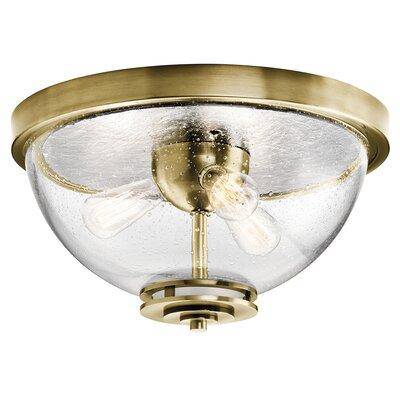 Sufiyan 3-Light Flush Mount Finish: Natural Brass