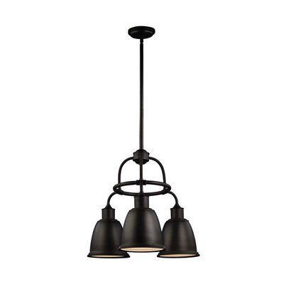 MariJo 3-Light Shaded Chandelier Finish: Oil Rubbed Bronze