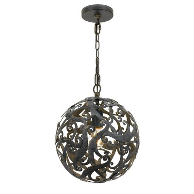 Aabha 1-Light Globe Pendant