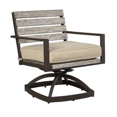 Laurel Foundry Modern Farmhouse Lilah Swivel Patio Dining Chair with Cushion