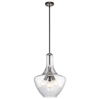 Jewell 3-Light Schoolhouse Pendant Finish: Olde Bronze