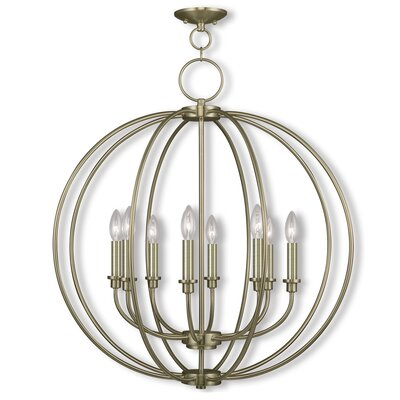 Naomie 8-Light Globe Pendant Finish: Antique Brass