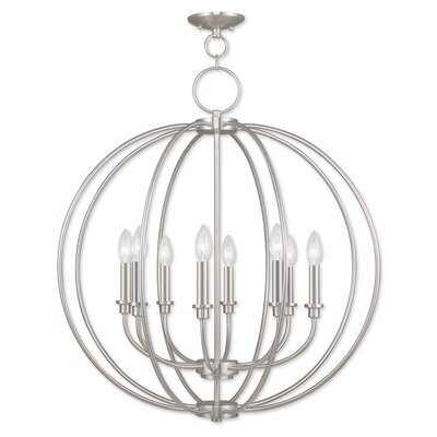 Naomie 8-Light Globe Pendant Finish: Brushed Nickel