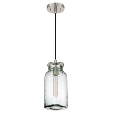Iola Brushed Nickel Nob Hill Single 1-Light Mini Pendant