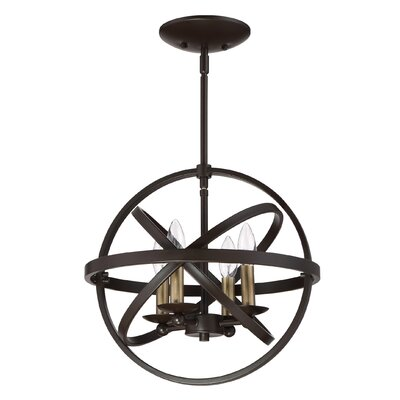 Ingalls Western bronze 4-Light Semi Flush Mount