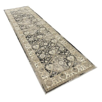 Dark Gray Area Rug Rug Size: Runner 3 x 10