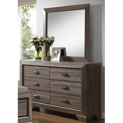 Hannaford 6 Drawer Dresser with Mirror