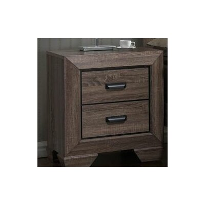 Carnegie 2 Drawer Nightstand