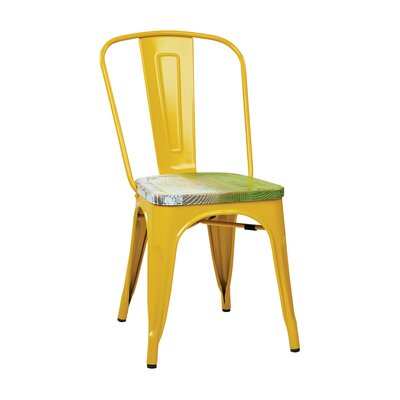 Isabel Side Chair Seat Finish: Ash Yellow Stone, Frame Finish: White