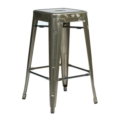 Isabel 26 Bar Stool Finish: Gun Metal