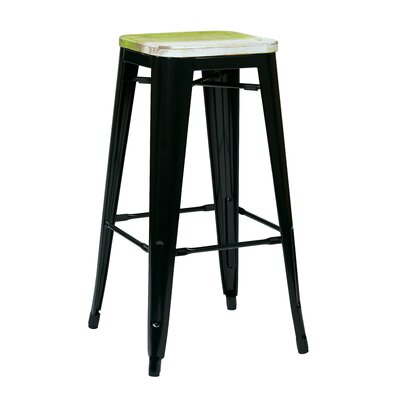 Isabel 30 Bar Stool Finish: Black, Upholstery: Pine Alice