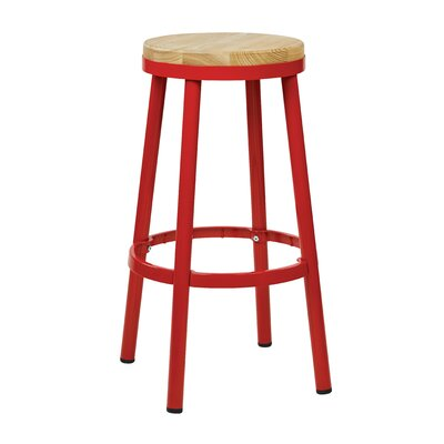 Isabel 30 Bar Stool Finish: Red