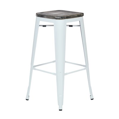 Isabel 30 Bar Stool Finish: White