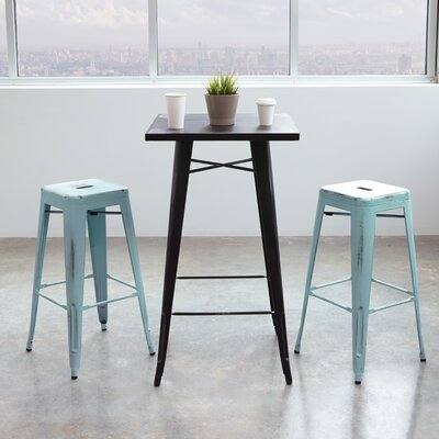 Isabel 30 Bar Stool Finish: Antique Sky Blue