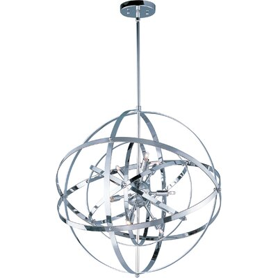 Hambrick 9-Light Pendant Finish: Polished Chrome