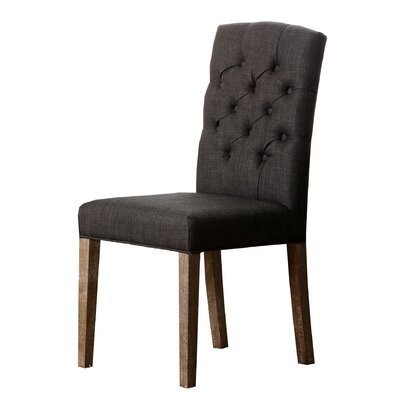 Isidore Upholstered Dining Chair Upholstery: Grey