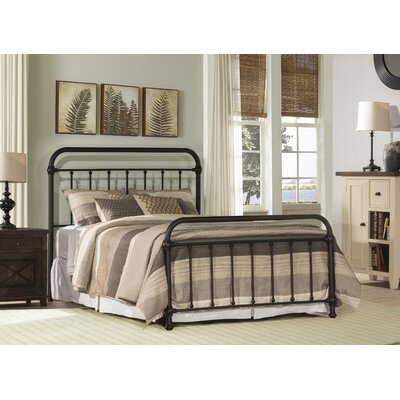 Harlow Metal Panel Bed Size: Full, Color: White