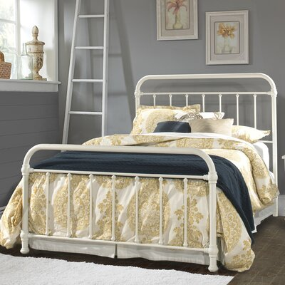 Harlow Metal Panel Bed Size: King, Finish: White