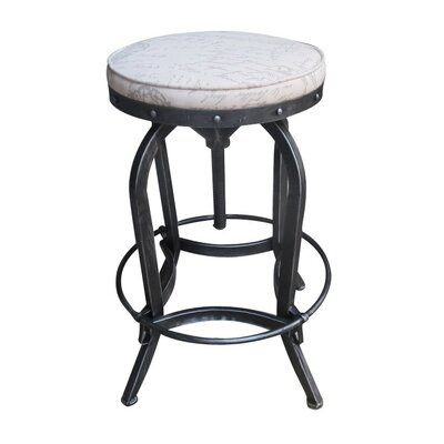 Gustavo Adjustable Height Swivel Bar Stool
