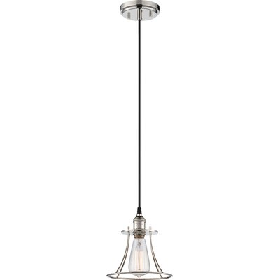 Sandy Springs 1-Light Caged Mini Pendant Finish: Polished nickel