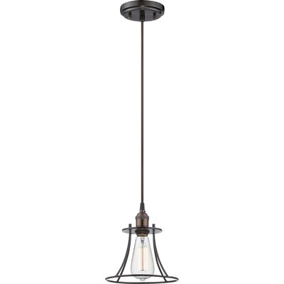 Sandy Springs 1-Light Caged Mini Pendant Finish: Rustic bronze