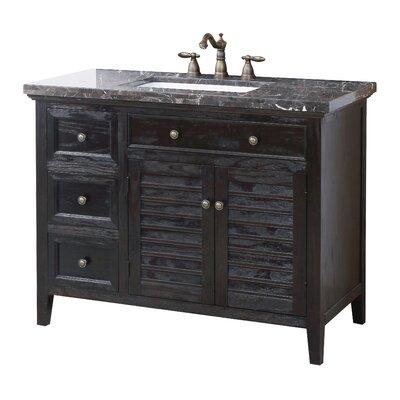 Bancroft 44 Bathroom Vanity Set Top Finish: Marble Dark Emperador