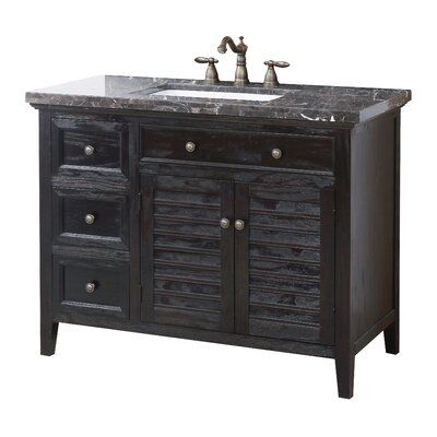 Vasquez 44 Bathroom Vanity Set Top Finish: Marble Dark Emperador