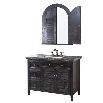 Bancroft 44 Bathroom Vanity Set with Mirror Top Finish: Marble Dark Emperador