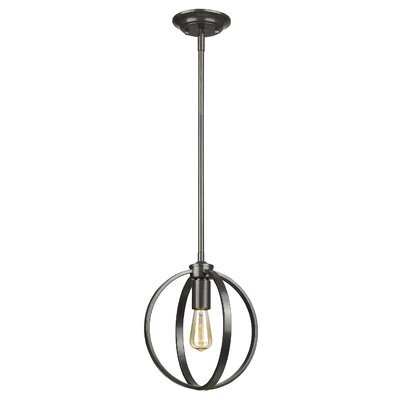 Tensed 1-Light Globe Pendant Finish: Etruscan Bronze
