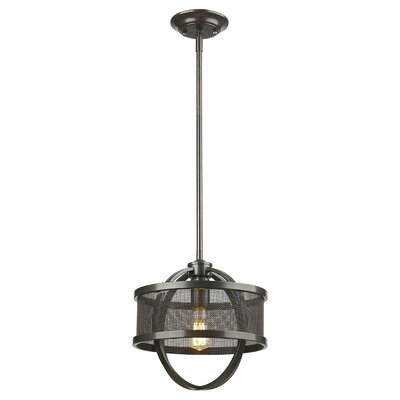 Carroll Valley 1-Light Drum Pendant Finish: Etruscan Bronze