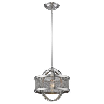 Tensed 1-Light Drum Pendant Finish: Pewter