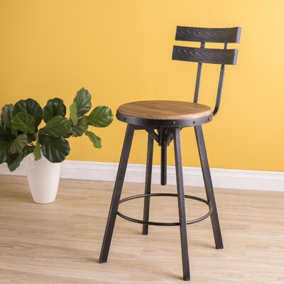 Henley Adjustable Swivel Bar Stool