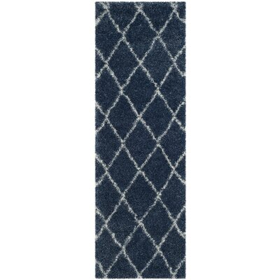 Macungie Blue Indoor Area Rug Rug Size: Runner 23 x 7