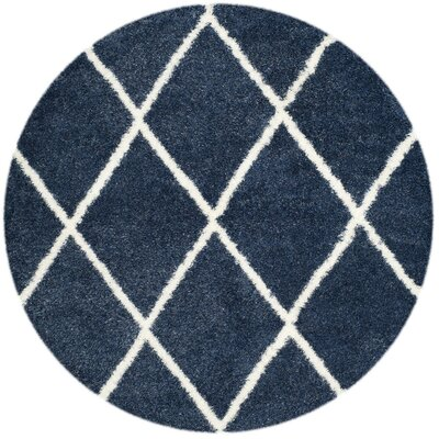 Macungie Blue Indoor Area Rug Rug Size: Round 67