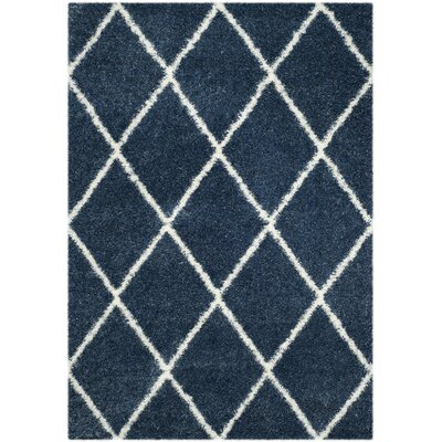 Macungie Blue Indoor Area Rug Rug Size: 53 x 76