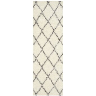 Macungie Gray/Beige Area Rug Rug Size: Runner 23 x 7
