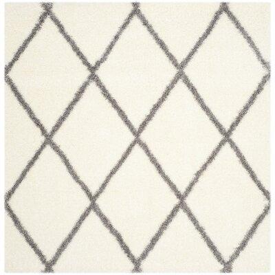 Hertha Gray/Beige Area Rug Rug Size: Square 67