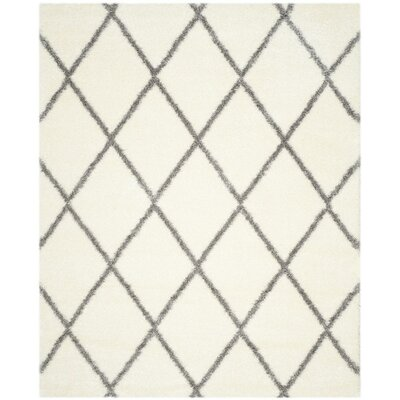 Macungie Gray/Beige Area Rug Rug Size: 8 x 10
