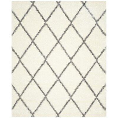 Hertha Gray/Beige Area Rug Rug Size: 8 x 10