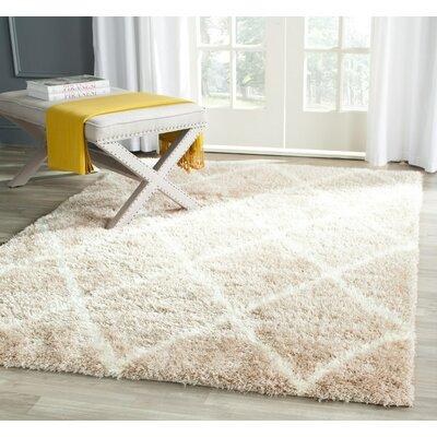 Macungie Trellis Beige Indoor Area Rug Rug Size: 3 x 5