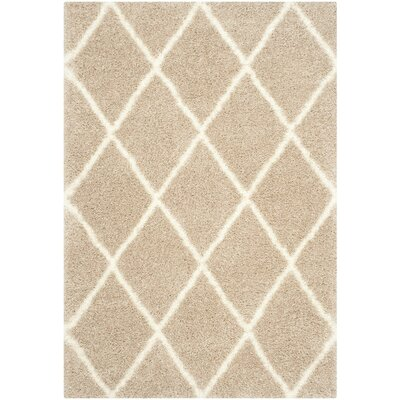 Hertha Beige Indoor Area Rug Rug Size: 53 x 76